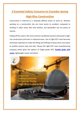 Important Safety Concerns to Consider During High-Rise Construction