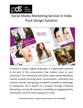 Social Media Marketing Service in India | PDS