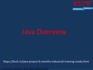 6 Month java industrial training in noida