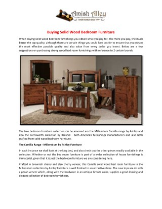 Buying Solid Wood Bedroom Furniture
