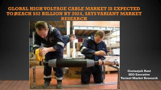 Global High Voltage Cable Market is Expected to Reach $52 Billion by 2024, Says Variant Market Research