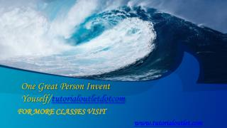 One Great Person Invent Youself/tutorialoutletdotcom