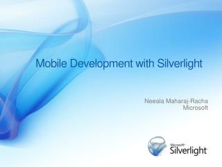 Mobile Development with Silverlight