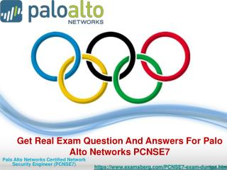 100% verified PCNSE7 Exam Study Material