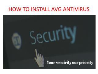 How to install avg antivirus in windows