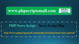 PHP News Script(phpscriptsmall) - News Script php