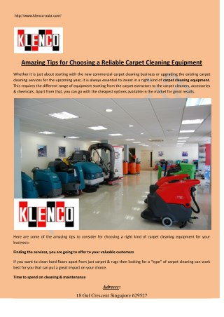 Amazing Tips for Choosing a Reliable Carpet Cleaning Equipment