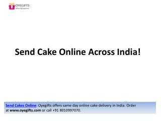 Send Cake Online