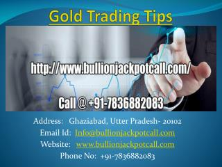 Intraday Commodity Gold Silver Trading Calls with High Accuracy