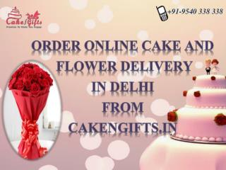 Order your delicious cake delivery in Delhi