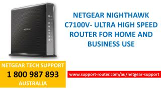 Netgear Nighthawk C7100V For Home And Business Use