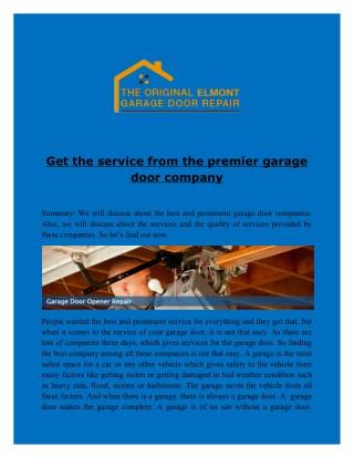 Looking for Garage door installation company in Elmont NY?