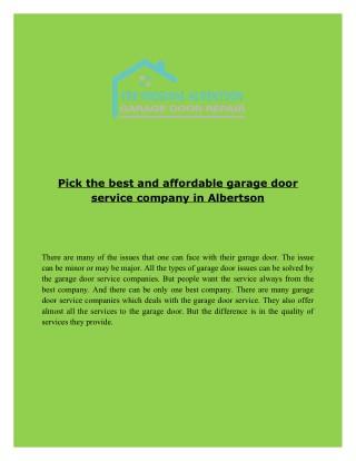 Albertson Garage Door Repair & Installation company Call Now! (866) 210 0831