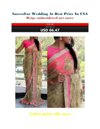 Sarees For Wedding At Best Price In USA