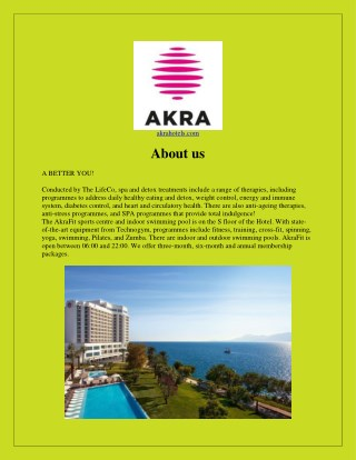 Antalya hotels - Best hotels in turkey