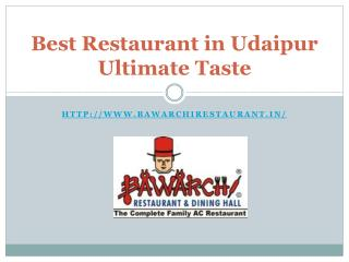 Best Restaurant in Udaipur Ultimate Taste