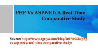 PHP Vs ASP.NET: A Real Time Comparison