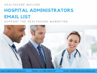 Hospital Administrators Email List