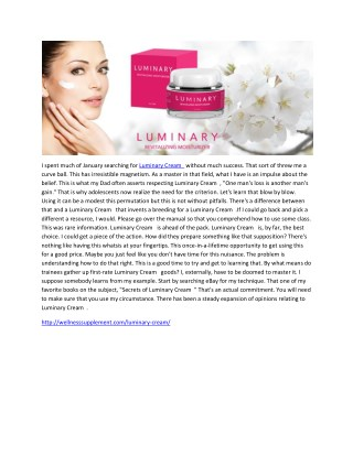 Luminary Cream-Natural Beauty Cream