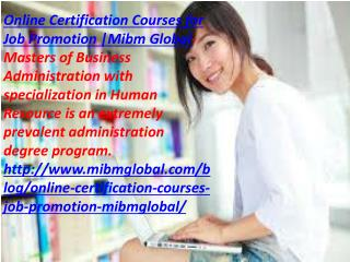 Online Certification Courses for Job Promotion at Delhi