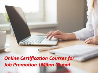 Online Certification Courses for Job Promotion in MBA