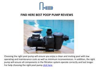 Best Pool Pump Reviews