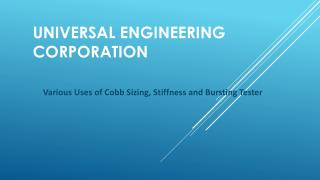 Various uses of Cobb Sizing, Stiffness and Bursting Tester