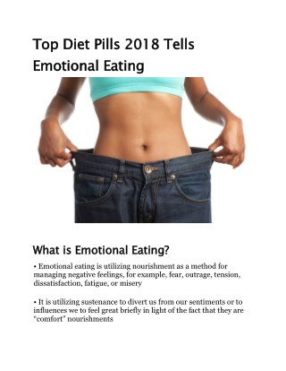 Top Diet Pills 2018 Tells Emotional Eating