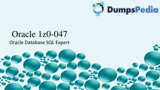 Oracle Database SQL Expert 1Z0-047 - Dumpspedia