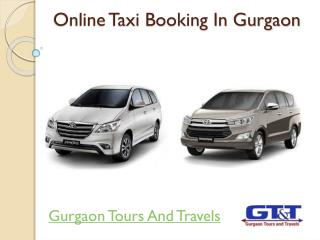 Online Taxi Booking In Gurgaon-Gurgaon Tours And Travels