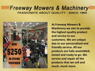 Find the effective products at freeway mowers