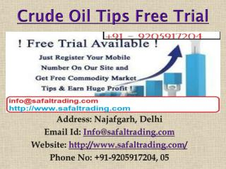 Commodity Gold Silver Crude Oil Tips In India - Safal Trading