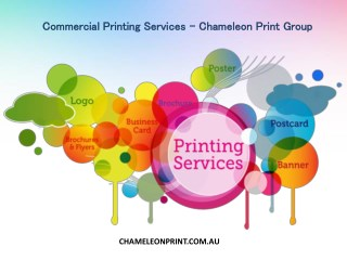 Commercial Printing Services - Chameleon Print Group