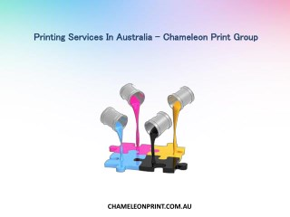 Printing Services In Australia - Chameleon Print Group