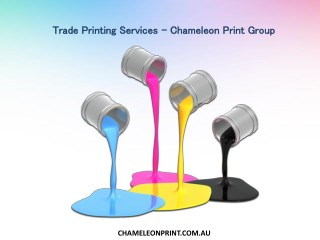 Trade Printing Services - Chameleon Print Group
