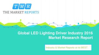 Global LED Lighting Driver Market Forecast to 2021: Capacity, Production, Revenue, Price, Cost, Gross Margin, Consumptio