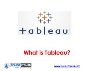 Free Tutorial Classes on  Tableau Online Training