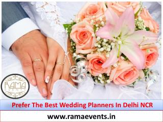 Prefer the Best Wedding Planners in Delhi NCR