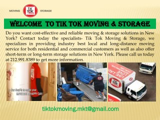 Commercial Moving in New York