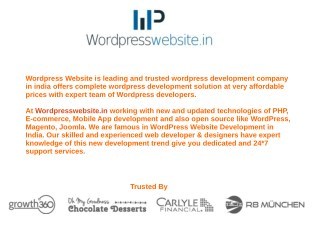 Wordpress Website - Web Desing And Dvelopment Company