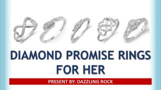 Buy Diamond Promise Ring For Her - Personalizable & Engravable | Dazzlingrock.com