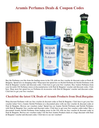 Luxury Aramis Perfumes Deals - Deal.Bargains