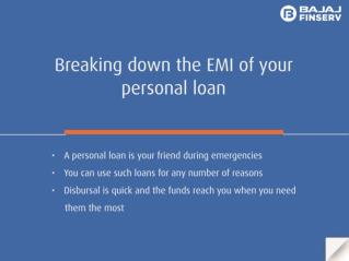 EMI Breakdown of Personal loan