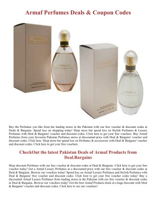 Luxury Armaf Perfumes Deals - Deal.Bargains