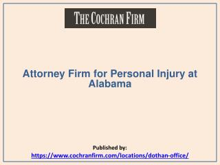 Attorney Firm for Personal Injury at Alabama