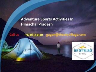 Adventure Sports Activities In Himachal Pradesh