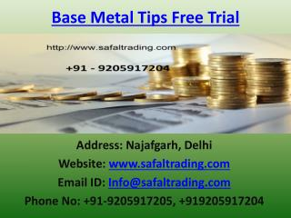 Make Quick Money in Commodity MCX Trading on Safal Trading