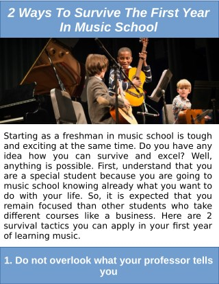How to Survive Your First Year in Music School