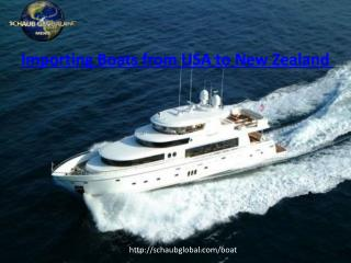 Importing Boats from USA to New Zealand