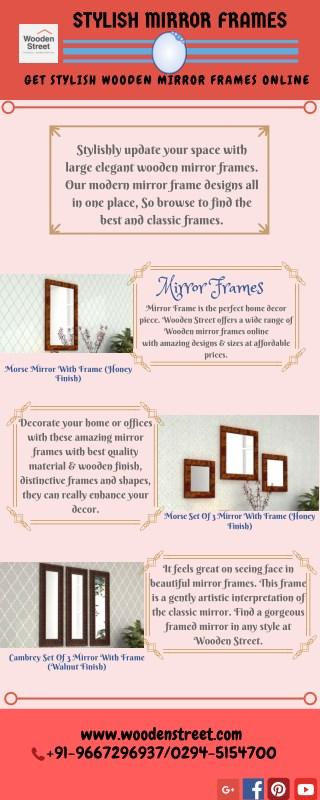 Mirror Frame - Wooden Mirror Frames at Best Prices